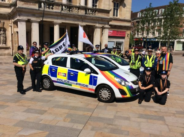 Police with Pride - Rainbow Cars for Pride Event