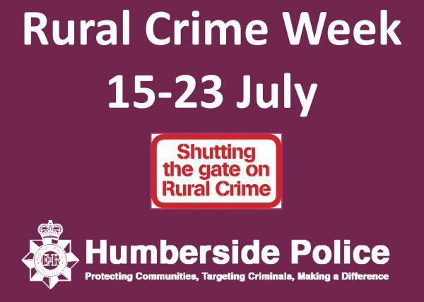 Rural Crime Week 15 – 23 July 2017