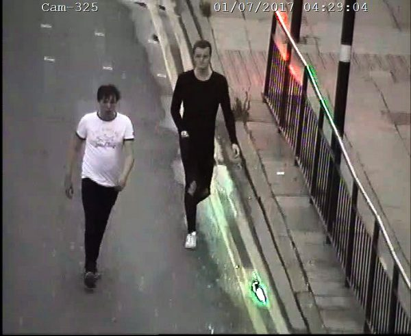 CCTV released to identify two men