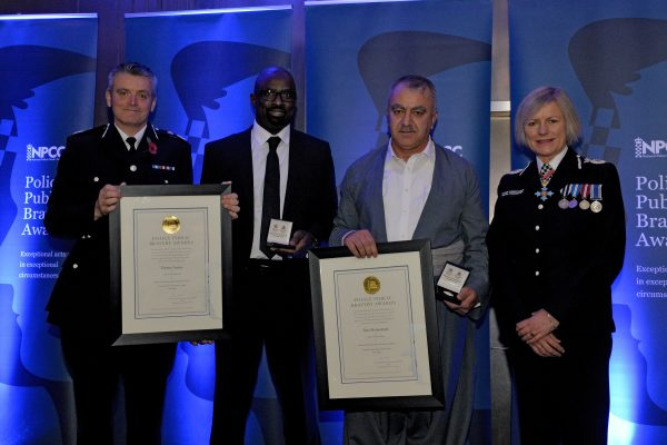 Public honoured at police bravery awards
