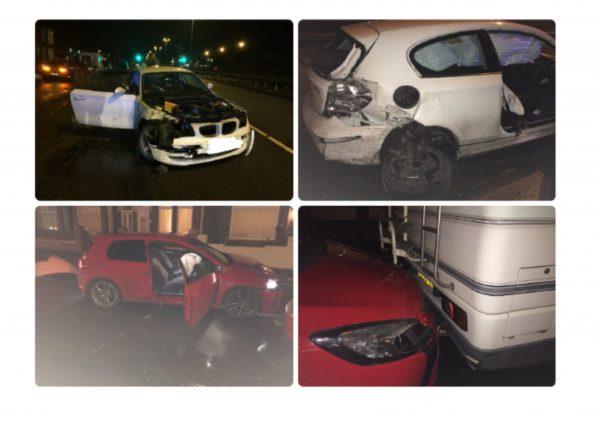 Hedon Road Hull - multi vehicle collision