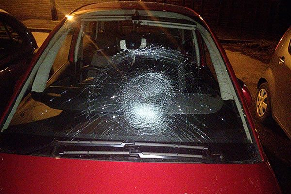 Criminal damage and assault on Hall Road, Hull