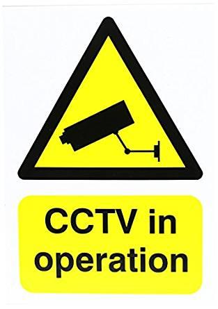 A5 CCTV sign